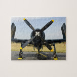 Grumman F8F Bearcat Navy Carrier Fighter on the Puzzle