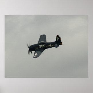 Grumman F8F Bearcat. Poster