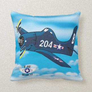 Grumman F8f bearcat Throw Pillow