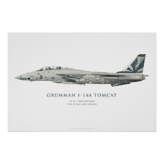 "Grumman F-14 A Tomcat VF-111 ""Sundowners"" Squadron Poster"