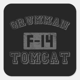 Grumman F-14 Tomcat Calcomania Cuadradas Personalizadas