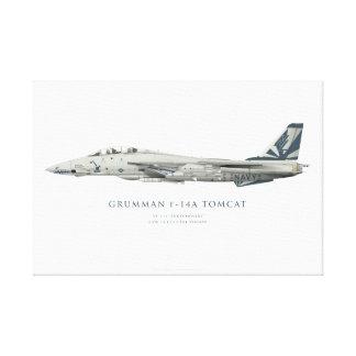 """Grumman F-14 una pintura de los """"Sundowners"""" de Lienzo Envuelto Para Galerias"""