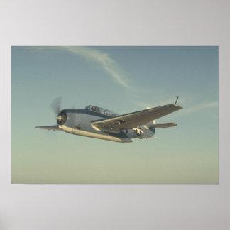 Grumman TBM Avenger Chino Air Museum Poster