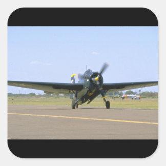 Grumman TBM Avenger, Frontal View_WWII Planes Square Sticker
