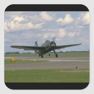 Grumman TBM Avenger, Landing_WWII Planes Square Sticker