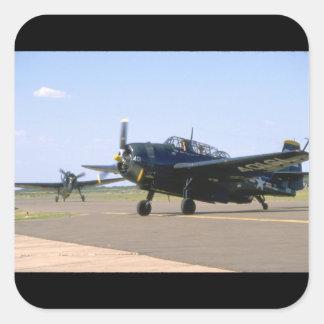 Grumman TBM Avenger. (plane_WWII Planes Square Sticker
