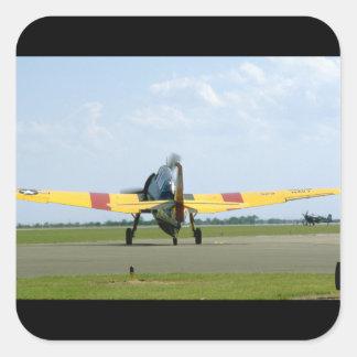 Grumman TBM Avenger, Rear_WWII Planes Square Sticker