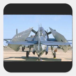 Grumman TBM Avenger, Wings Folded_WWII Planes Square Sticker
