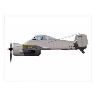 Grumman XF-5F Skyrocket 437437 Postcard