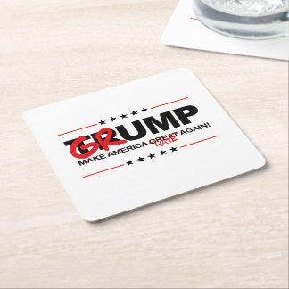 GRUMP 2016 - Make America Hate Again Square Paper Coaster