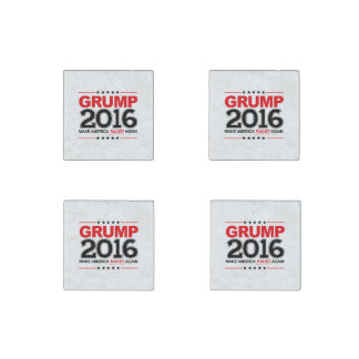 GRUMP 2016 - Make America Racist Again Stone Magnet