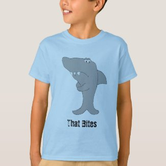 Grump Cartoon Shark T-Shirt