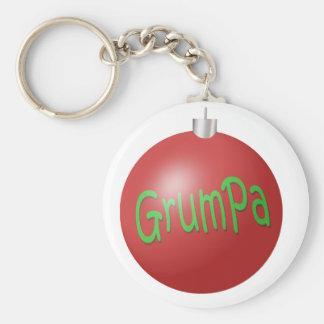 Grumpa Christmas ornament Basic Round Button Keychain