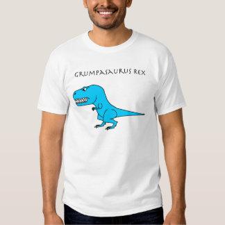 Grumpasaurus Rex azul claro Playeras