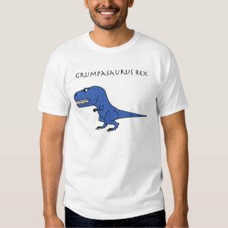 Grumpasaurus Rex Blue Textured Tee Shirt