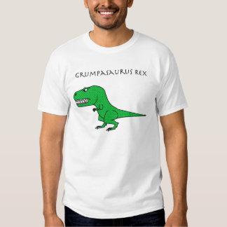 Grumpasaurus Rex Green Textured T Shirt