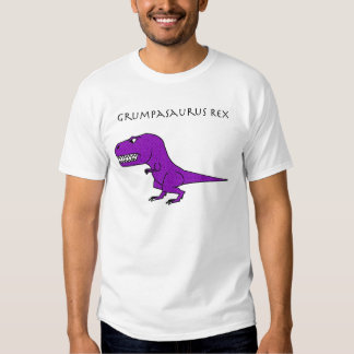 Grumpasaurus Rex Purple Textured Shirt