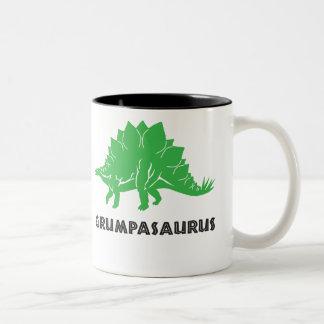 Grumpasaurus STEGOSAURUS dinosaur grandad, mug cup