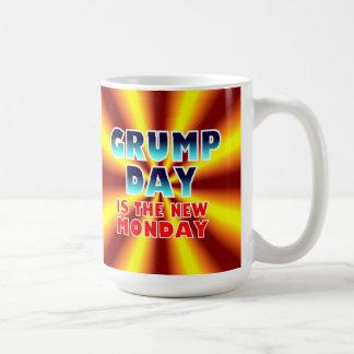 Grumpday Is Now Monday Mug. Classic White Coffee Mug