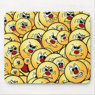 Grumpeys Angry Smiley Faces Set Mouse Pad