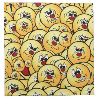 Grumpeys Angry Smiley Faces Set Napkin
