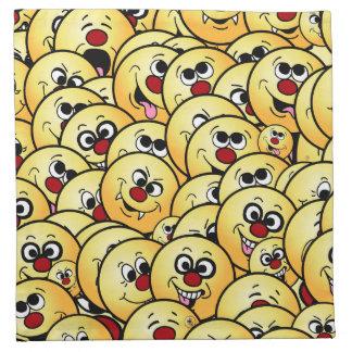 Grumpeys Funny Smiley Faces Set Cloth Napkin