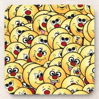 Grumpeys Funny Smiley Faces Set Drink Coaster
