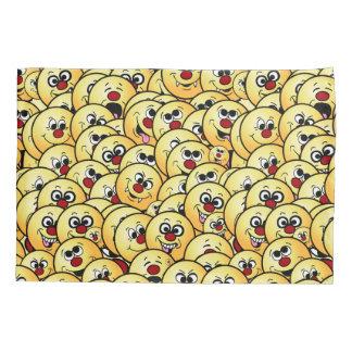 Grumpeys Funny Smiley Faces Set Pillowcase