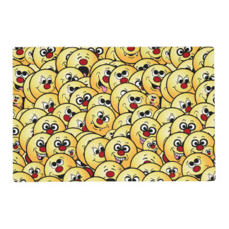 Grumpeys Funny Smiley Faces Set Placemat