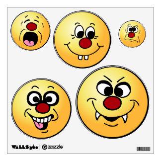 Grumpeys Funny Smiley Faces Set Room Graphics