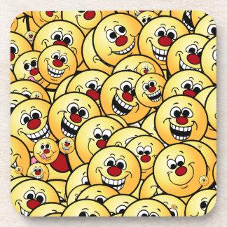 Grumpeys Happy Smiley Faces Set Drink Coaster