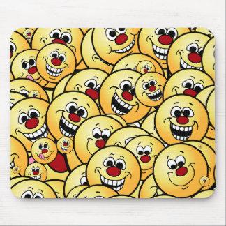 Grumpeys Happy Smiley Faces Set Mouse Pad