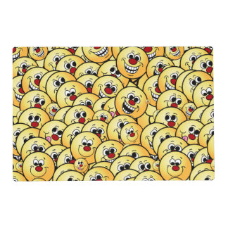 Grumpeys Happy Smiley Faces Set Placemat