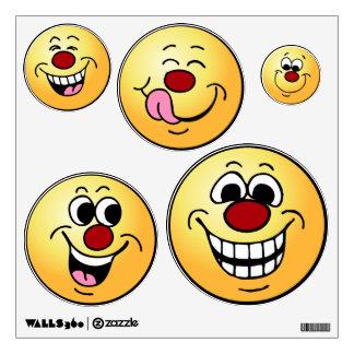 Grumpeys Happy Smiley Faces Set Wall Sticker