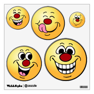 Grumpeys Happy Smiley Faces Set Room Graphics