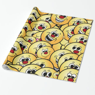 Grumpeys Happy Smiley Faces Set Wrapping Paper