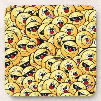 Grumpeys Silly Smiley Faces Set Drink Coaster