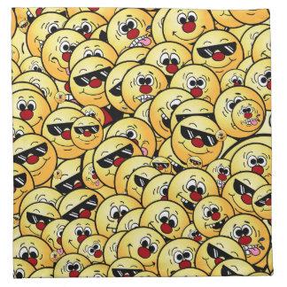 Grumpeys Silly Smiley Faces Set Napkin