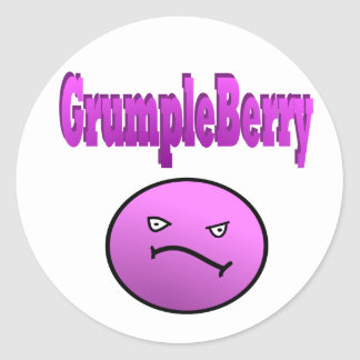 GrumpleBerry Pegatina Redonda