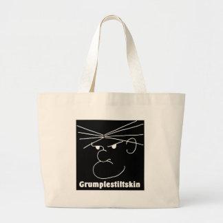 Grumplestiltskin (black) jumbo tote bag