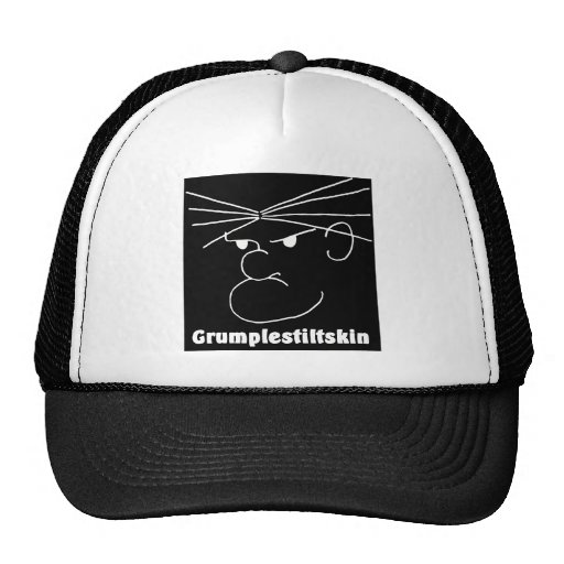 Grumplestiltskin (black) mesh hat