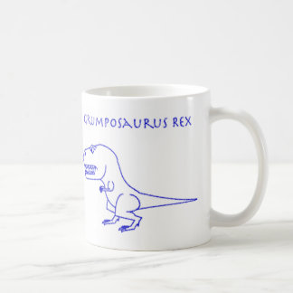 Grumposaurus Rex Blue Crayon Mug