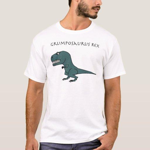 Grumposaurus Rex Dark Green Textured T-Shirt