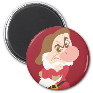 Grumpy 10 2 inch round magnet