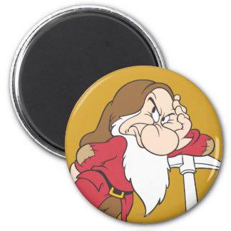 Grumpy 12 2 inch round magnet
