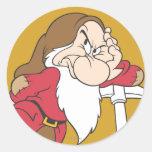 Grumpy 12 classic round sticker