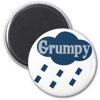 Grumpy 2 Inch Round Magnet