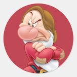 Grumpy 3 classic round sticker