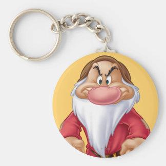 Grumpy 5 basic round button keychain