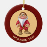 Grumpy 5 Double-Sided ceramic round christmas ornament